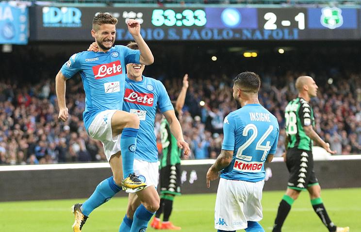 «Наполи» обыграл «Сассуоло» ипродолжает лидировать вчемпионате Италии