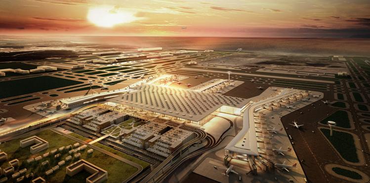 Новый аэропорт Стамбула готов на55%