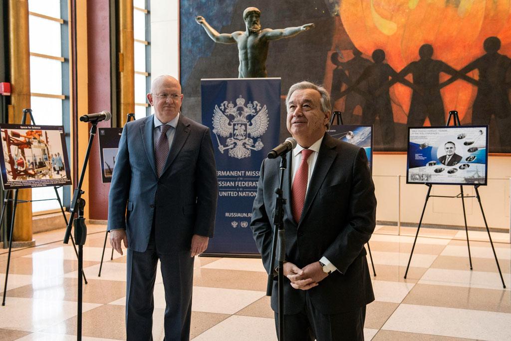 Вмеждународной организации ООН открыли фотовыставку кюбилею запуска первого искусственного спутника Земли