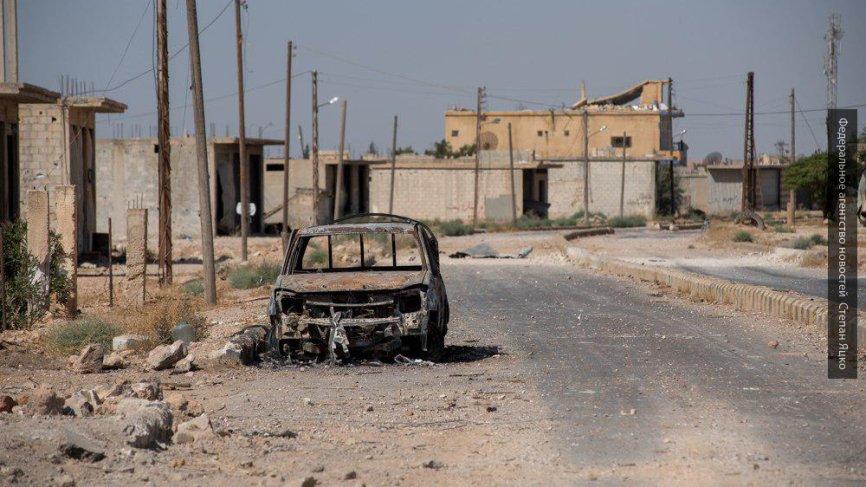 ВКСРФ помогли жителям деревни впровинции Дамаск восстановить свет иводу