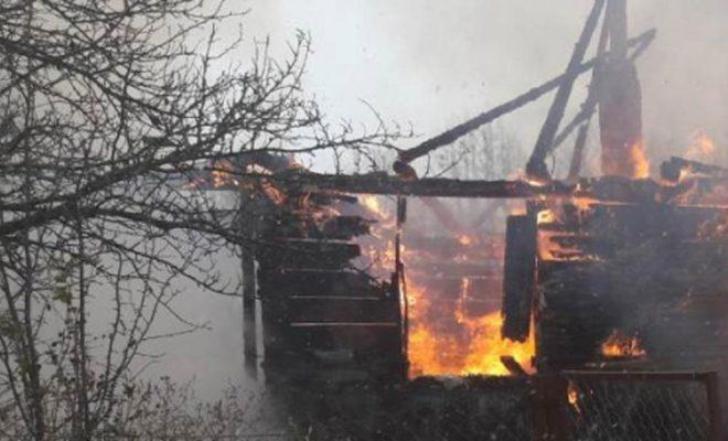 В Козельском районе сгорел жилой дом