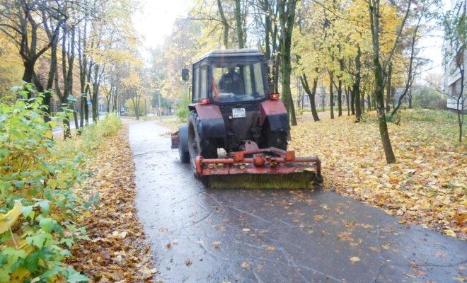 Из Обнинска вывезли более 100 кубометров опавшей листвы