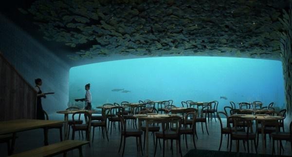 Самый большой подводный ресторан откроют вНорвегии