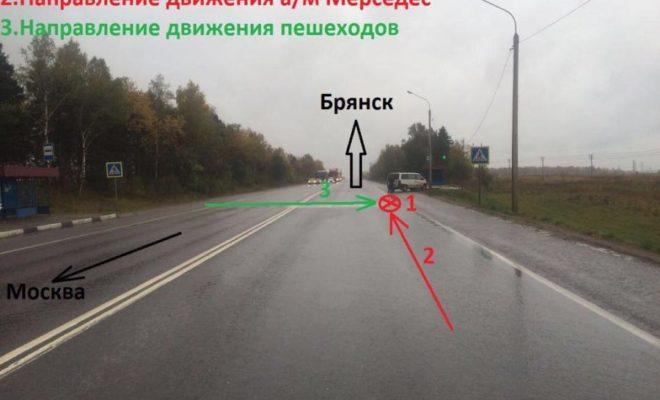 На автодороге М-3 сбили двух пешеходов
