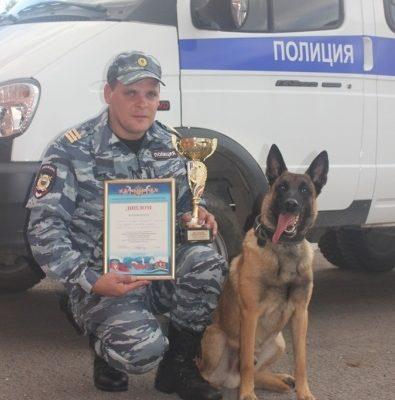 Собака сержанта калужской полиции лучше всех в стране ищет взрывчатку