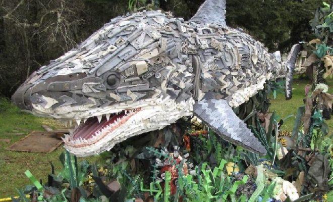 В Калуге из мусора соорудят «рыбный» арт-объект