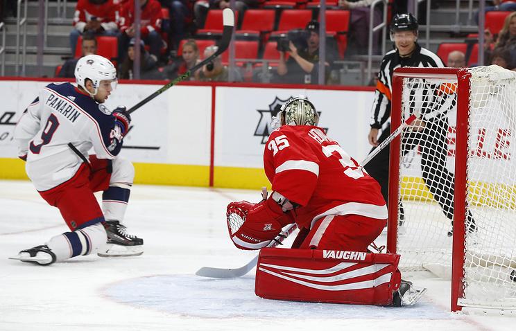 Панарин иБобровский помогли «Коламбусу» обыграть «Детройт» ввыездном матче НХЛ