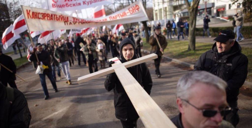 В Республики Беларусь провели шествие впамять жертв политических репрессий