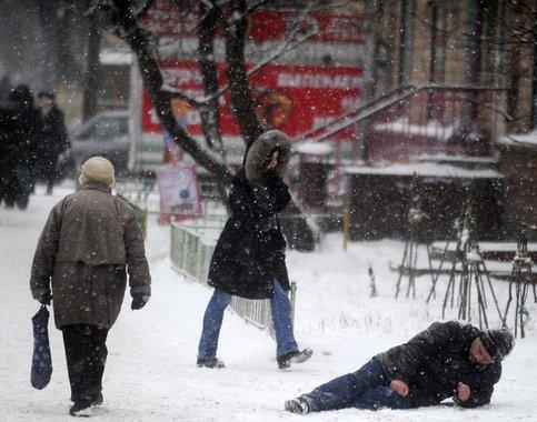 МЧС предупредило жителей столицы оснеге игололедице