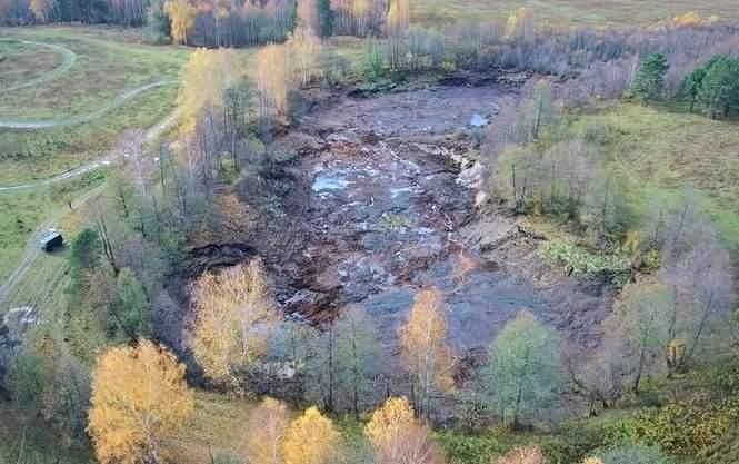 Под Владимиром озеро неожиданно ушло под землю