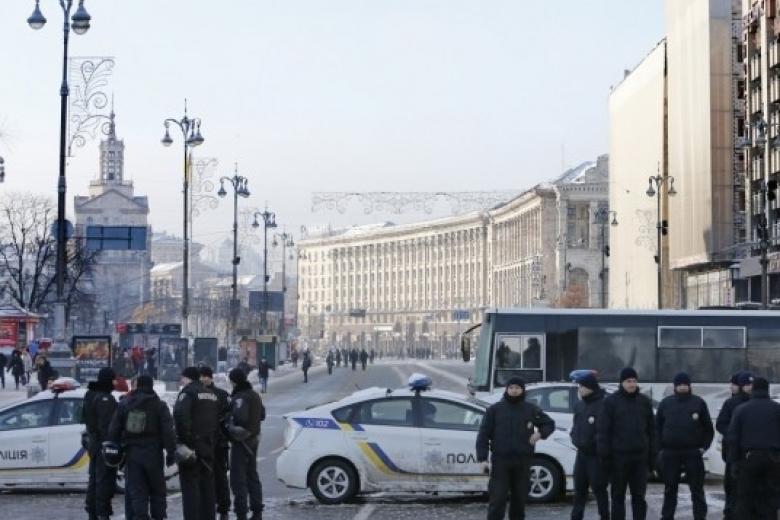Вцентре украинской столицы доконца января ограничено движение транспорта
