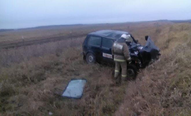 В Сухиничском районе «Нива» уехала в кювет