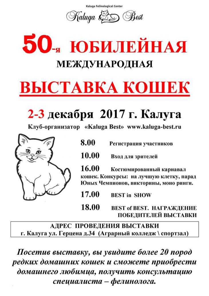 В Калуге состоится выставка кошек