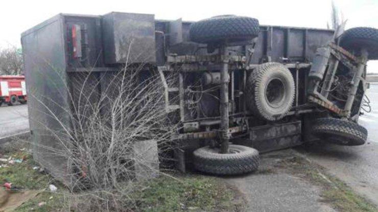 ВНиколаевской области машина Нацгвардии въехала востановку, есть погибшие