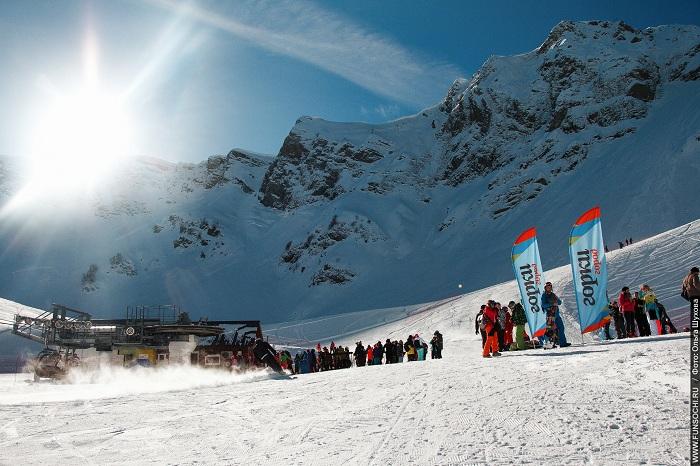 ВСочи официально открыли горнолыжный сезон