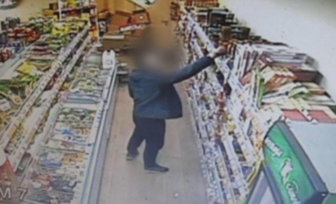 Житель наукограда в магазине пытался украсть бутылку конька