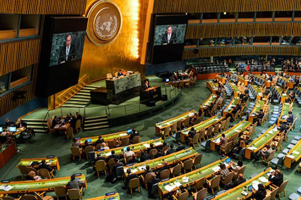 Леонид Слуцкий: Генассамблея ООН нестала потокать однополярному миру