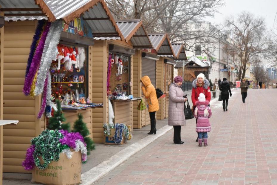 Наулице Кирова открылась рождественская ярмарка