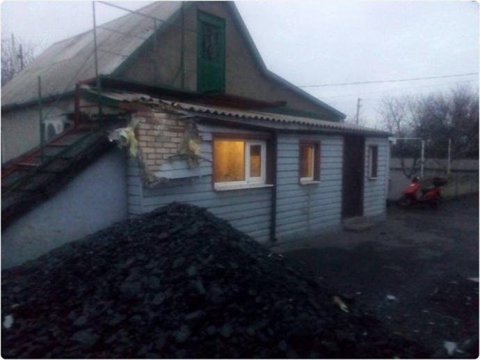 Под огонь попали жилые дома— Боевики обстреляли Марьинку