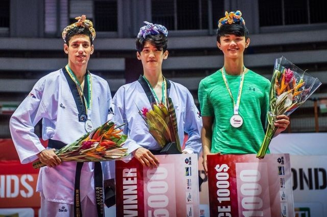 Дончанин Алексей Денисенко занял 2-ое место намировой серии Гран-при потхэквондо
