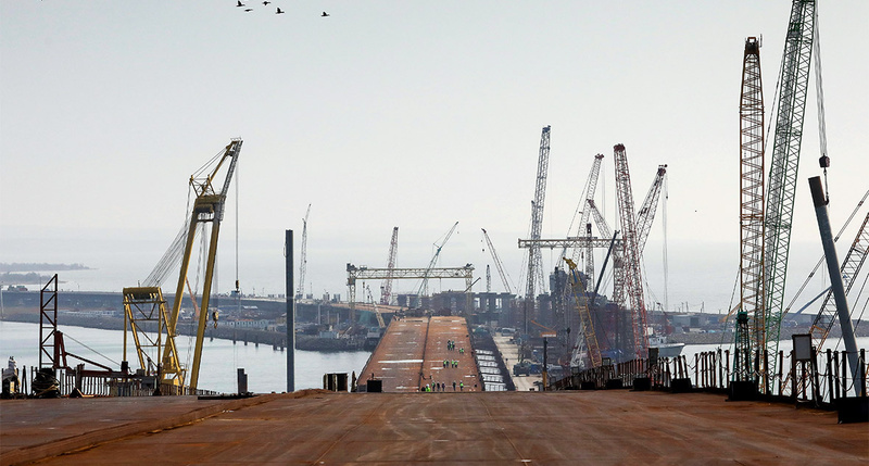 Сдачу объектов транспортной безопасности наавтоподходах кКрымскому мосту перенесли наполгода