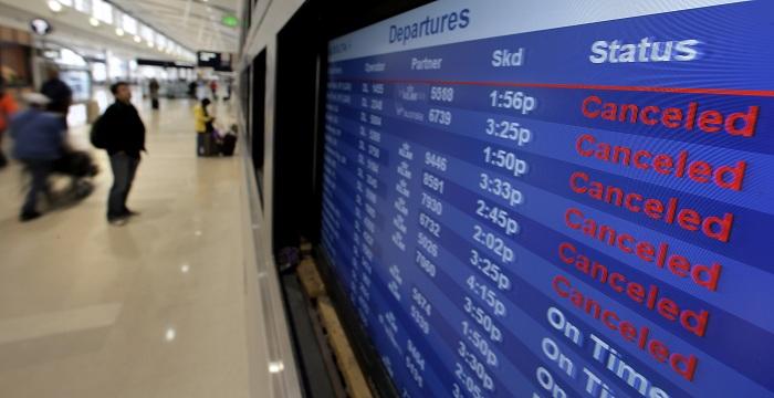 В аэропорту Атланты задержки рейсов