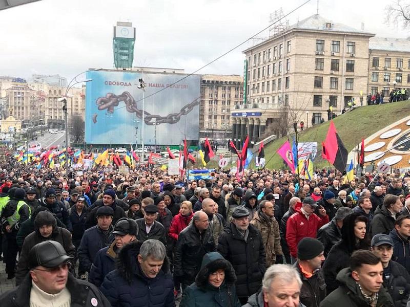 ВКиеве сторонники Саакашвили требуют импичмента Порошенко