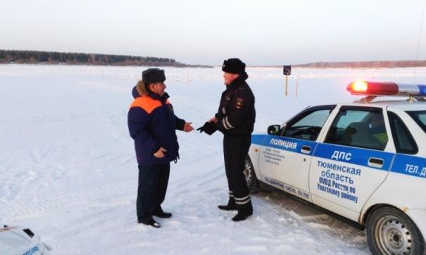 ВТуве Усть-Буренская ледовая переправа открыта для 10-тонников