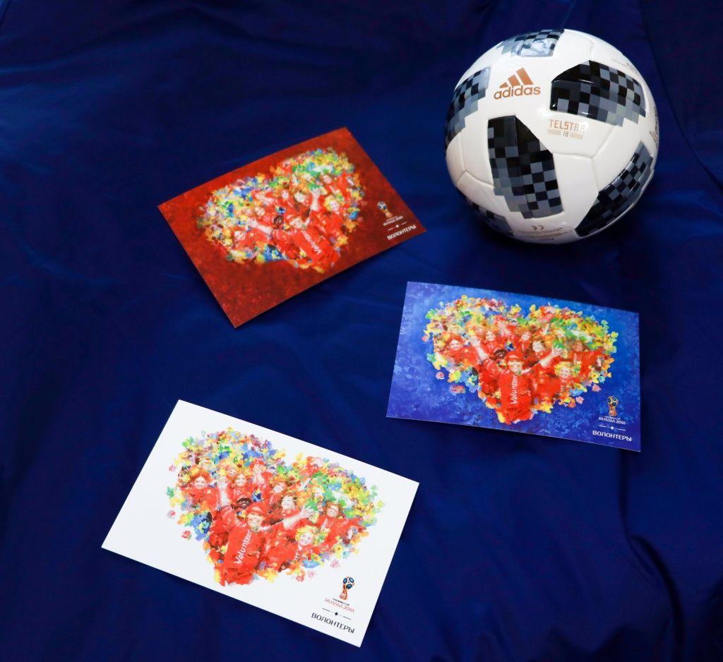 Владислав Коваль создал авторскую открытку кчемпионату мира пофутболу