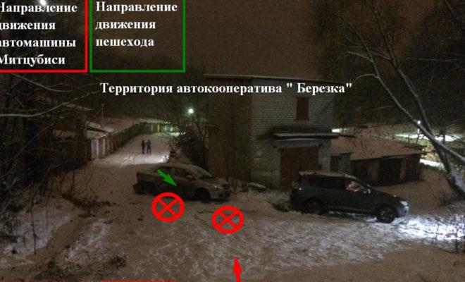 """В """"гаражах"""" столкнулись две машины и сбили пешехода"""