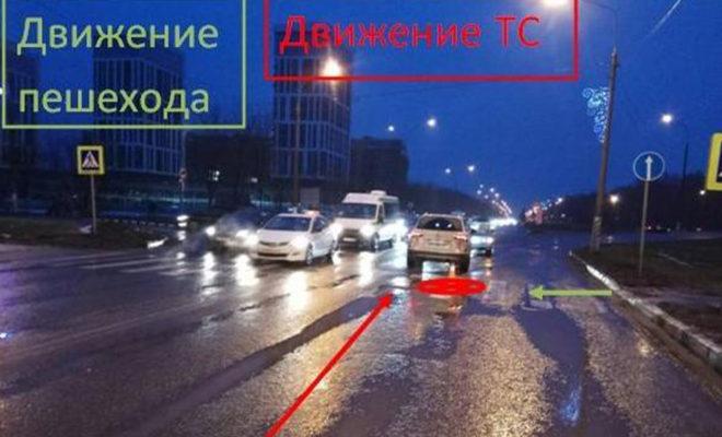 На проспекте Ленина в Обнинске Фольксваген сбил женщину-пешехода