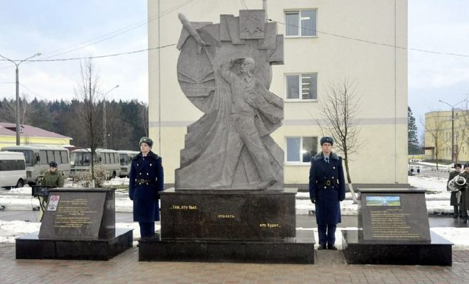 В Ермолино открыли памятник погибшим авиаторам