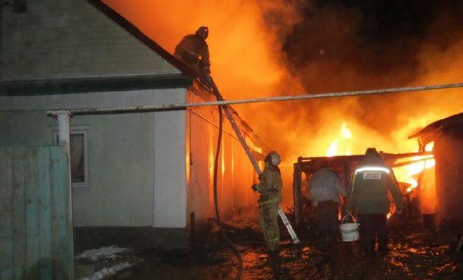 В Гремячево горел дом