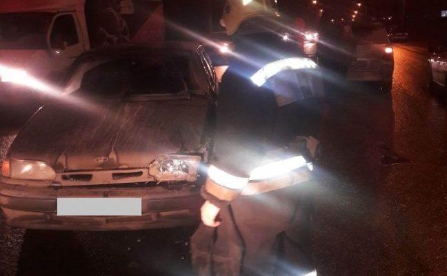 На Грабцевском шоссе столкнулись три авто