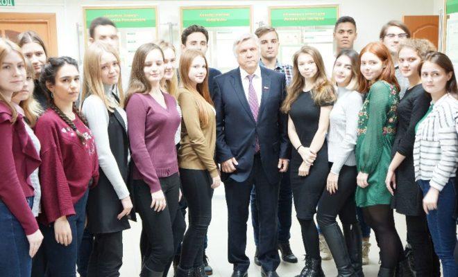Сенатор Юрий Волков встретился со студентами Калужского филиала РАНХ и ГС